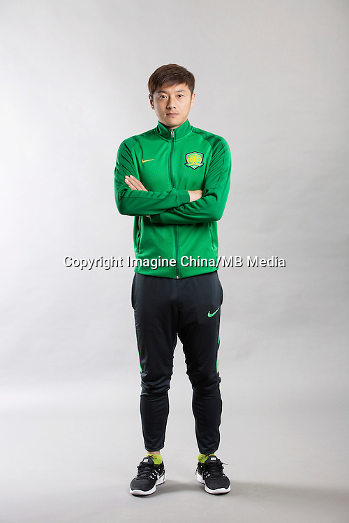 Portrait of Chinese soccer player Zhang Xinxin of Beijing Sinobo Guoan F.C. for the 2017 Chinese Football Association Super League, in Benahavis, Marbella, Spain, 18 February 2017.