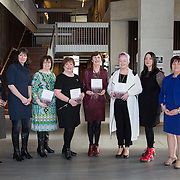 27.01.17<br /> Pictured at the Graduate Entry Medical School, University of Limerick for the launch of 'Introduction to Critical Reflection and Action for Teacher Researchers' were left to right, Prof. Marie Parker Jenkins, Prof. Dympna Devine, Caitriona McDonagh, Mary Roche, Bernie Sullivan and Mairin Glenn, Authors, Patricia Mannix McNamara and Dr. Geraldine Mooney Simmie. Picture: Alan Place