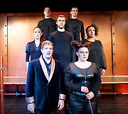 The Frogs by Aristophanes <br /> adapted by Burt Shevelove and Nathan Lane at Jermyn Street Theatre, London, Great Britain <br /> 15th March 2017 <br /> <br /> <br /> Martin Dickinson as George Bernard Shaw <br /> Nigel Pilkington as William Shakespeare<br /> Li-Tong Hsu as Virilla the Amazon <br /> Chris McGuigan as Herakles <br /> Bernadette Bangura as Ariadne<br /> Michael Matus as Dionysos <br /> Emma Ralston as Pluto <br /> <br /> <br /> <br /> <br /> Photograph by Elliott Franks <br /> Image licensed to Elliott Franks Photography Services