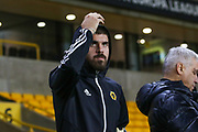 The Wolverhampton Wanderers players have arrived during the Europa League match between Wolverhampton Wanderers and Besiktas at Molineux, Wolverhampton, England on 12 December 2019.