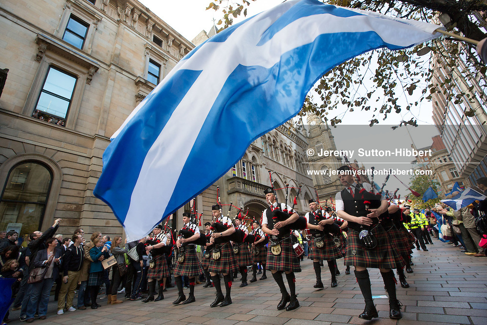 Olympic parade celebrations at Buchanan Street, Glasgow, Scotland, on Friday 14th September 2012.