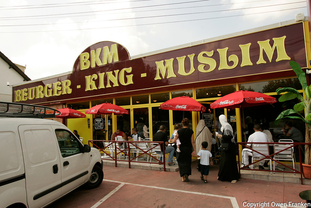 the muslim fast food restaurant &quot;Beurger King Muslim&quot; in Clichy-Sous-Bois, a suburb of Paris.<br />