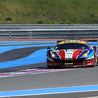 #71, Ferrari 488 GTE AF Corse Ferrari, driven by Davide Rigon, Sam Bird, FIA WEC Prologue Circuit Paul Ricard, 26/03/2016,