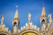 Gable detail, Basilica San Marco (Saint Mark's Cathedral), Venice, Veneto, Italy