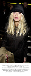 Model LAURA BAILEY at a film screening in London on 27th February 2002.			OXW 20