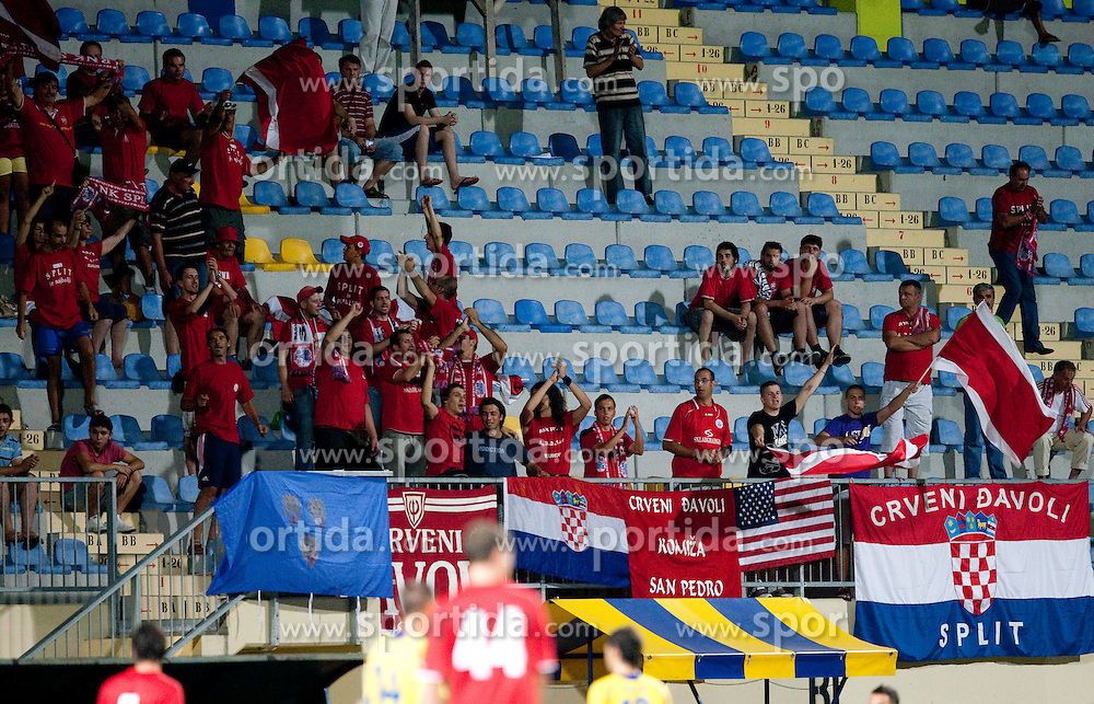 Supporters of Split. UEFA Europa League, Second Qualifying Round, 1st Leg, NK Domzale vs RNK Split, on July 14, 2011, in Sports park Domzale, Slovenia. Split defeated Domzale 2-1. (Photo by Vid Ponikvar / Sportida)