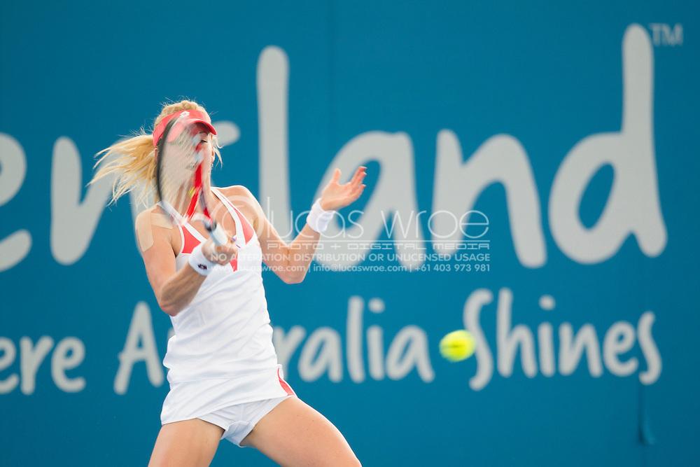 Urszula RADWANSKA (POL). Brisbane International Tennis Championship. Queensland Tennis Center, Tennyson, Brisbane, Queensland, Australia. 01/01/2013. Photo By Lucas Wroe