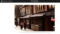 Ritz-Carlton Journey website; Gion in Kyoto