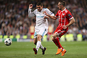 Mateo Kovacic (Real Madrid) and Franck Ribery (Bayern Munich) during the UEFA Champions League, semi final, 2nd leg football match between Real Madrid and Bayern Munich on May 1, 2018 at Santiago Bernabeu stadium in Madrid, Spain - Photo Laurent Lairys / ProSportsImages / DPPI