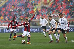 """Foto Filippo Rubin<br /> 11/03/2018 Bologna (Italia)<br /> Sport Calcio<br /> Bologna - Atalanta - Campionato di calcio Serie A 2017/2018 - Stadio """"Renato Dall'Ara""""<br /> Nella foto: FEDERICO DI FRANCESCO  (BOLOGNA)<br /> <br /> Photo by Filippo Rubin<br /> March 11, 2018 Bologna (Italy)<br /> Sport Soccer<br /> Bologna vs Atalanta - Italian Football Championship League A 2017/2018 - """"Renato Dall'Ara"""" Stadium <br /> In the pic: FEDERICO DI FRANCESCO  (BOLOGNA)"""