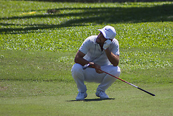 February 3, 2018 - Shah Alam, Kuala Lumpur, Malaysia - Alexander Levy is seen taking at hole no 18 on day 3 at the Maybank Championship 2018...The Maybank Championship 2018 golf event is being hosted on 1st to 4th February at Saujana Golf & Country Club. (Credit Image: © Faris Hadziq/SOPA via ZUMA Wire)