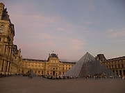 The square in front of The Louvre with I. M. Pei glass pyramid
