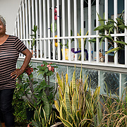 AUGUST 27, 2018--CATA&ntilde;O---PUERTO RICO--<br /> Maria Salom&eacute; Casiano Melendez, 73, in front of her house in  the Barrio Palmas of Cata&ntilde;o. Salom&eacute; is known as the Patrona of the neighborhood.<br /> (Photo by Angel Valentin/Freelance)