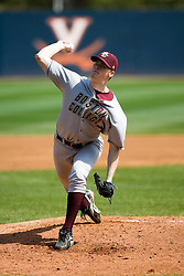 Boston College pitcher Dan Houston (25).  The #19 ranked Virginia Cavaliers baseball team defeated the Boston College Golden Eagles 5-4 in 10 innings at the University of Virginia's Davenport Field in Charlottesville, VA on March 22, 2008.