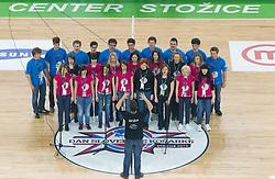 Pevski zbor poje drzavno himno na Dnevu slovenske kosarke, on January 2, 2011 in Arena Stozice, Ljubljana, Slovenia.  (Photo By Vid Ponikvar / Sportida.com)
