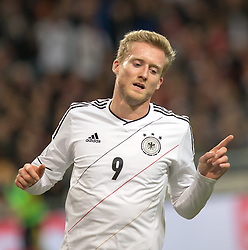 15.10.2013, Friends Arena, Stockholm, SWE, FIFA WM Qualifikation, Schweden vs Deutschland, Gruppe C, im Bild Germany 9 Andre Schürrle Schurrle score for Germany,, , Nyckelord , Keywords : football , fotboll , soccer , FIFA , World Cup , Qualification , Sweden , Sverige , Schweden , Germany , Tyskland , Deutschland portr©tt portrait // during the FIFA World Cup Qualifier Group C Match between Sweden and Germany at the Friends Arena, Stockholm, Sweden on 2013/10/15. EXPA Pictures © 2013, PhotoCredit: EXPA/ PicAgency Skycam/ Ted Malm<br /> <br /> ***** ATTENTION - OUT OF SWE *****