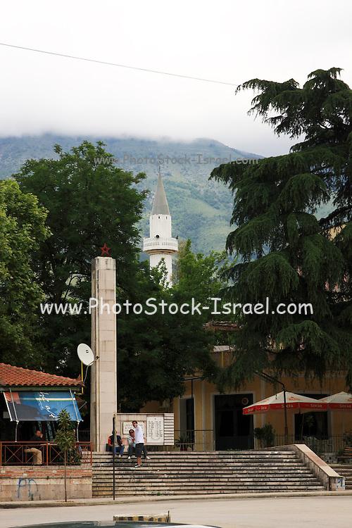 Albania, Borsh, a mosque steeple