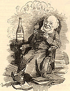 Samuel Smiles (1812-1904) Scottish author and campaigner for political reform, born at Haddington.  He studied medicine at Edinburgh university.  Editor of the 'Leeds Times' (1838-1845). Author of 'Self Help' (1859) and of biographies, particularly of engineers. Cartoon by Edward Linley Sambourne in the Punch's Fancy Portraits series from 'Punch' (London, 21 July 1883).