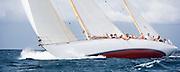 Lone Fox racing at the St. Maarten Classic Yacht Regatta.
