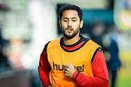 20-05-2017: Voetbal: FC Utrecht v SC Heerenveen: Utrecht<br /> <br /> (L-R) FC Utrecht speler Mark van der Maarel loopt warm tijdens het Eredivisie duel tussen FC Utrecht en Heerenveen op 20 mei 2017 in stadion Galgenwaard tijdens 1/2 finale play-offs <br /> <br /> 1/2 finale Play-offs, Eredivisie - Seizoen 2016 / 2017<br /> <br /> Foto: Gertjan Kooij