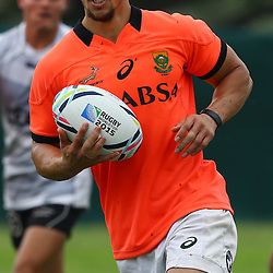 DURBAN, SOUTH AFRICA - SEPTEMBER 01: Zane Kirchner during the South African national rugby team training session at Peoples Park on September 01, 2015 in Durban, South Africa. (Photo by Steve Haag/Gallo Images)