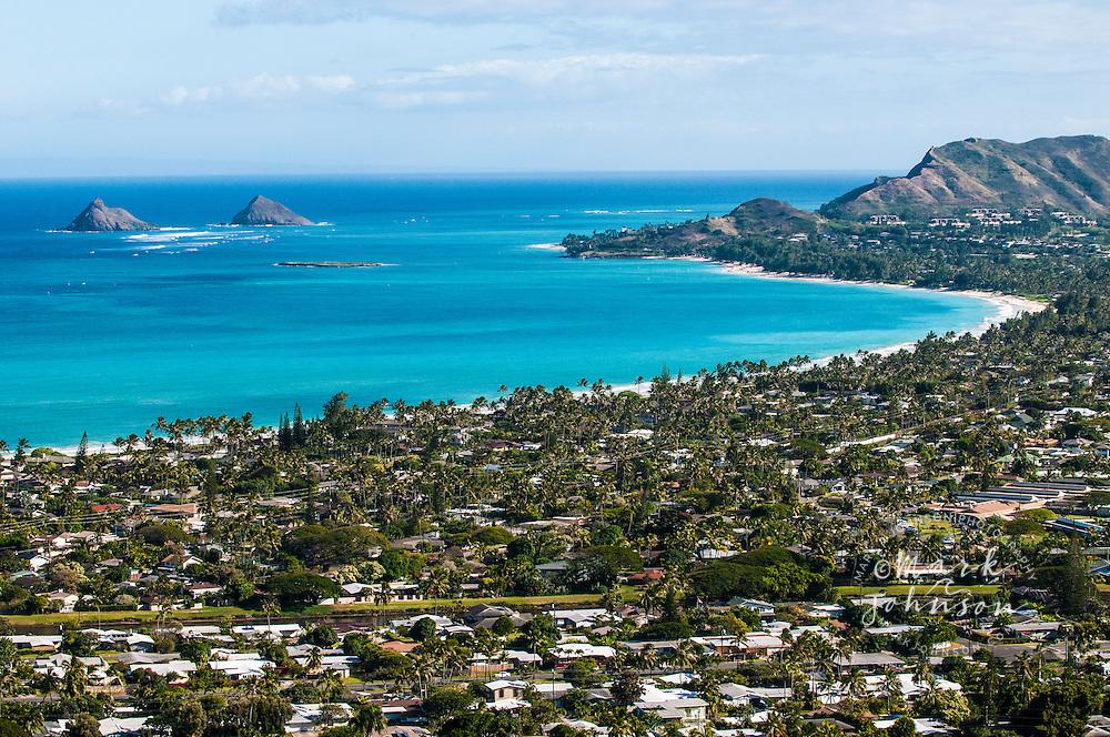 Kailua Bay, Oahu, Hawaii Mokulua Islands & Kailua Bay, Oahu, Hawaii