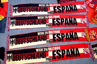 GEPA-2906087333A - WIEN,AUSTRIA,29.JUN.08 - FUSSBALL - UEFA Europameisterschaft, EURO 2008, Host City Fan Zone, Fanmeile, Fan Meile, Public Viewing. Bild zeigt Schals. Keyword: Schal.<br />Foto: GEPA pictures/ Reinhard Mueller