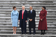 Washington - Trumps And Obamas On Capitol Hill Steps - 20 Jan 2017