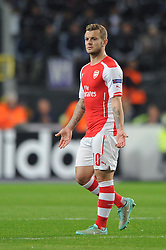 Arsenal's Jack Wilshere - Photo mandatory by-line: Dougie Allward/JMP - Mobile: 07966 386802 - 22/10/2014 - SPORT - Football - Anderlecht - Constant Vanden Stockstadion - R.S.C. Anderlecht v Arsenal - UEFA Champions League - Group D