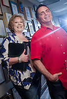 Joe Miele, CEO and Barbara Fowler, production manager Diamond Studios, Hoover, Alabama.
