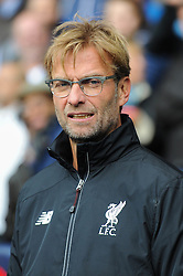 Jurgen Klopp takes charge of his first Liverpool game against Tottenham Hotspur at White Hart Lane. - Mandatory byline: Dougie Allward/JMP - 07966 386802 - 17/10/2015 - FOOTBALL - White Hart Lane - London, England - Tottenham Hotspur v Liverpool - Barclays Premier League