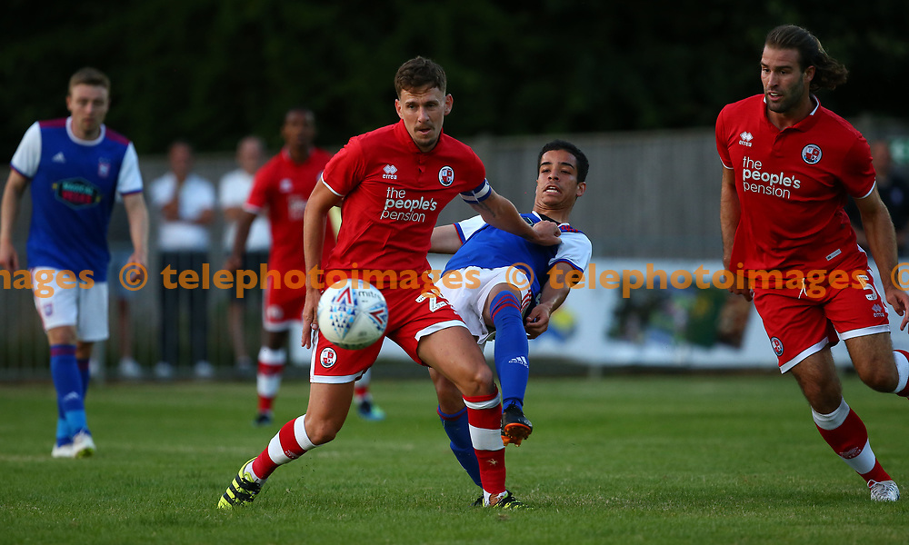 Crawley's Mark Randall  during the pre season friendly between Crawley Town and Ipswich Town at East Court, East Grinstead, UK. 17 July 2018.