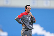 Sevilla Manager Unai Emer during the Pre-Season Friendly match between Brighton and Hove Albion and Sevilla at the American Express Community Stadium, Brighton and Hove, England on 2 August 2015.