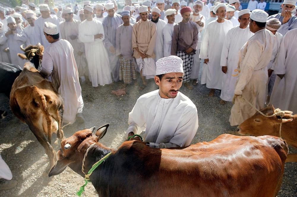 Nizwa, Sultanate of Oman, 28 November 2008<br /> Animal market in Nizwa city.<br /> Photo: Ezequiel Scagnetti