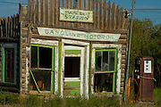 Old gas station in Daniel Wyoming