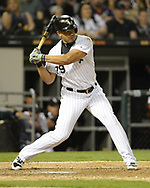 CHICAGO - MAY 04:  Jose Abreu #79 of the Chicago White Sox bats against the Minnesota Twins on May 4, 2018 at Guaranteed Rate Field in Chicago, Illinois.  (Photo by Ron Vesely)  Subject: Jose Abreu
