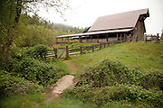 The 100+ year old barn at Leaping Lamb Farm.