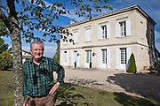 Patron Gerard Becot at Chateau Beau-Sejour Becot, St Emilion in the Bordeaux wine region of France