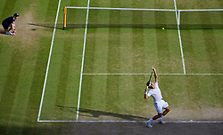 LONDON, ENGLAND - Friday, July 4, 2014: Eoger Federer (SUI) during the Gentlemen's Singles Semi-Final match on day eleven of the Wimbledon Lawn Tennis Championships at the All England Lawn Tennis and Croquet Club. (Pic by David Rawcliffe/Propaganda)