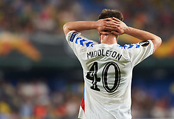 September 20, 2018 - Vila-Real, Castellon, Spain - Glenn Middleton of Rangers FC reacts during the UEFA Europa League Group G match between Villarreal CF and Rangers FC at La Ceramica Stadium on September 20, 2018 in Vila-real, Spain. (Credit Image: © Maria Jose Segovia/NurPhoto/ZUMA Press)