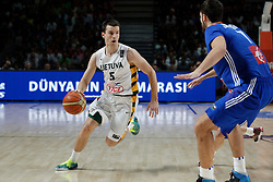 13.09.2014, City Arena, Madrid, ESP, FIBA WM, Frankreich und Litauen, Entscheidungsspiel zwischen Platz 3 und 4, im Bild Lithuania´s Juskevicius // during FIBA Basketball World Cup Spain 2014 playoff match place 3 and 4 between France and Lithuania at the City Arena in Madrid, Spain on 2014/09/13. EXPA Pictures © 2014, PhotoCredit: EXPA/ Alterphotos/ Victor Blanco<br /> <br /> *****ATTENTION - OUT of ESP, SUI*****