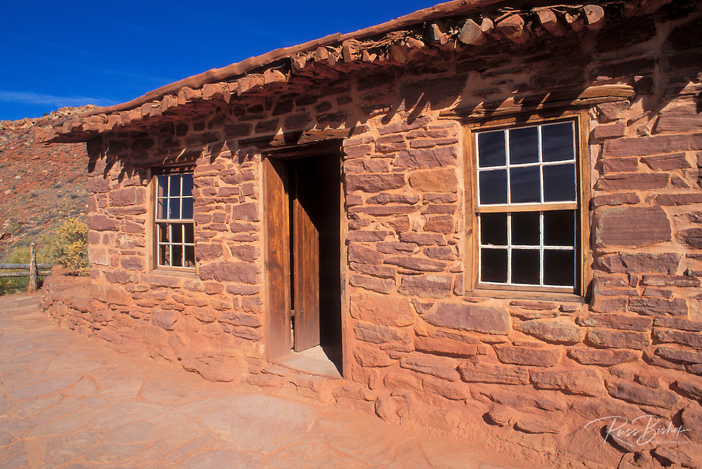 The west cabin (used by John Wesley Powell's survey crew in the early 1870s), Pipe Spring National Monument, Arizona
