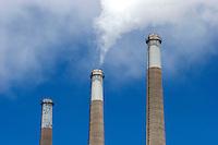 Natural Gas Power Plant Smokestacks, Morro Bay, California