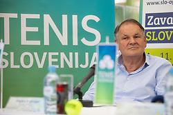 Marko Umbereger, president of Tennis Slovenia at Press conference before ATP Challenger Portoroz 2018, on July 17, 2018 in Ljubljana, Slovenia. Photo by Urban Urbanc / Sportida
