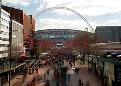 Fans walk down Wembley Way - Photo mandatory by-line: Dougie Allward/JMP - Mobile: 07966 386802 - 22/03/2015 - SPORT - Football - London - Wembley Stadium - Bristol City v Walsall - Johnstone Paint Trophy Final