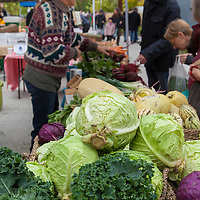 Fresh local produce for sale at a farmers market