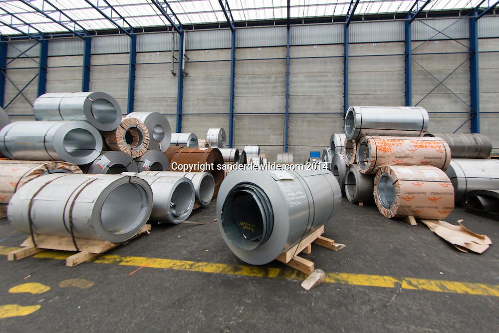 Stocked metals at van moer group in the port of antwerp