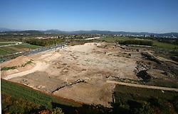 Building of new stadium in Ljubljana - Stozice, on October 6, 2008, in Ljubljana, Slovenia.  (Photo by Vid Ponikvar / Sportal Images)
