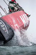 The Seven Star Triple Crown as part of Lendy Cowes week 2017. The Volvo Ocean Race VOR65 'Mapfre' shown here in action .The team skippered by Xabi Fern&aacute;ndez raced around the island in 3 hours 13 minutes and 11 seconds setting a new world record, beating the previous record by almost seven minutes<br /> Credit Lloyd Images