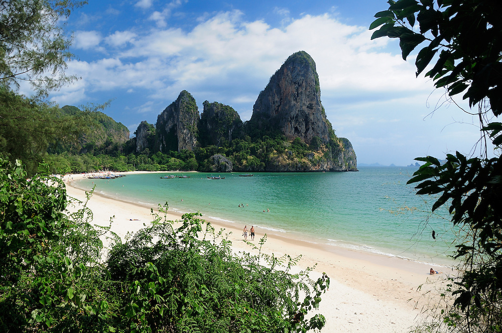 Railay Beach, near Krabi, Andaman Sea, Thailand